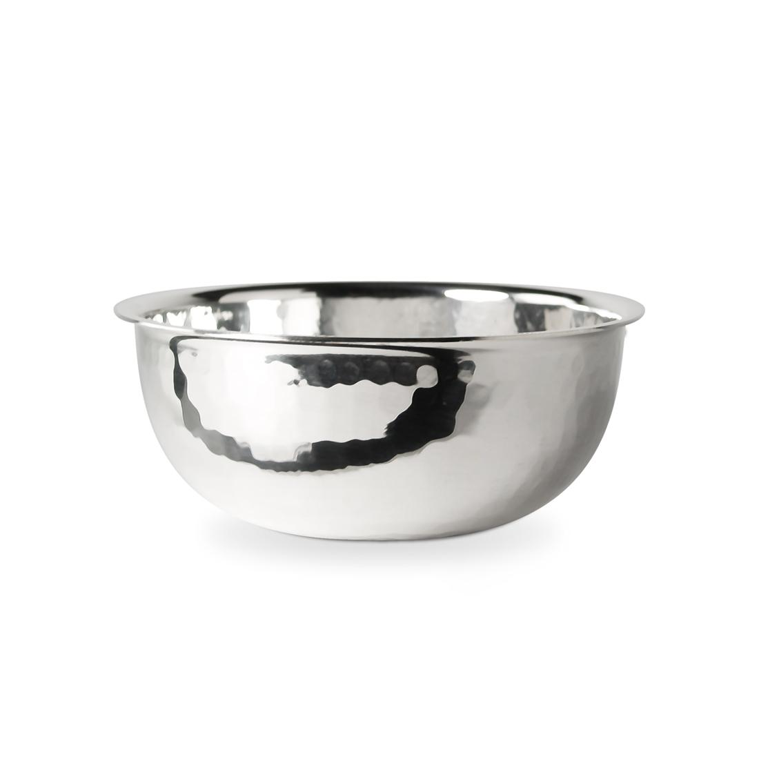 "4"" Silver Plated Hammered Finger Bowl"