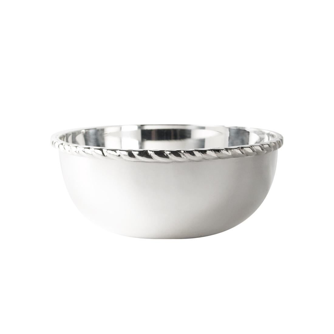 "4"" Silver Plated Finger Bowl in Rope"