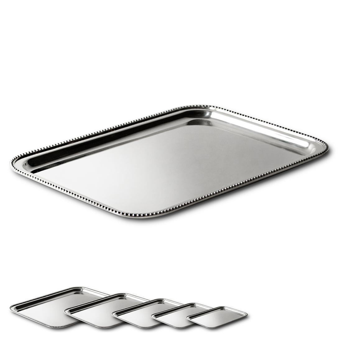 "12"" Rectangular Tray in Pearl"