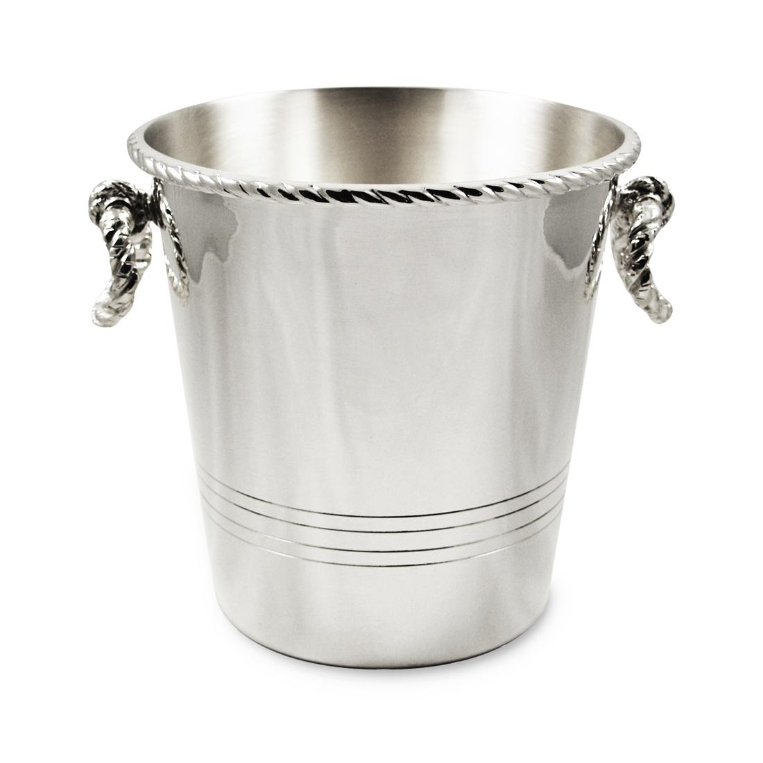 Orfevra Silver Plated Champagne Cooler in Rope