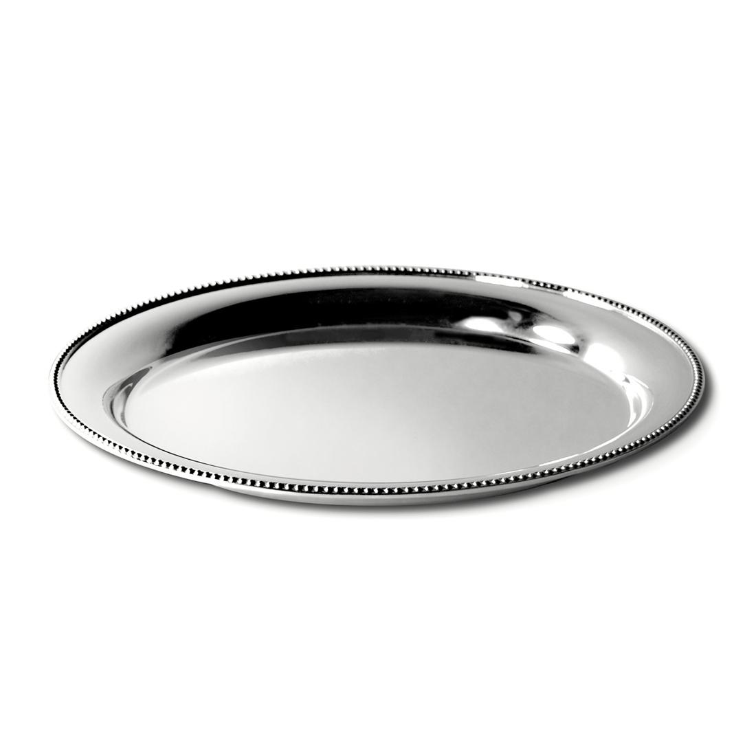 Orfevra Silver Plated Round Tray in Pearl